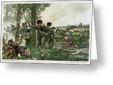 Battle Of Waterloo Troops Of The Nassau Greeting Card