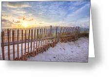 Beach Fences Greeting Card