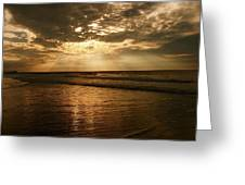 Beach Sunrise Greeting Card by Nelson Watkins