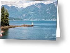 Beacon At Snug Cove Greeting Card