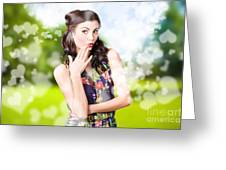 Beautiful Valentines Day Woman. Cosmetic Love Greeting Card
