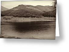 Beauty Of A Loch And Natural Surroundings In The Scottish Highlands Greeting Card