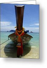 Beauty Of Boats Thailand 1 Greeting Card