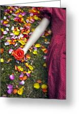 Bedded In Petals Greeting Card
