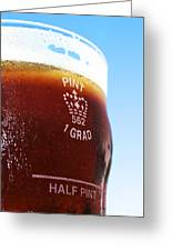 Beer Pint Glass Greeting Card