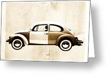 Beetle Car Greeting Card by David Ridley