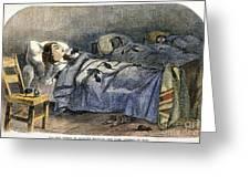 Bellevue Hospital, 1860 Greeting Card