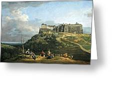 Bellotto's The Fortress Of Konigstein Greeting Card