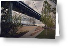 Ben Franklin Bridge Greeting Card by Katie Cupcakes