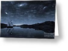 Beneath A Jewelled Sky Greeting Card