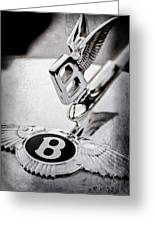 Bentley Hood Ornament - Emblem Greeting Card