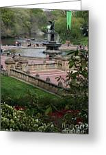 Bethesda Fountain - Central Park Nyc Greeting Card