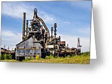 Bethlehem Steel Mill Greeting Card