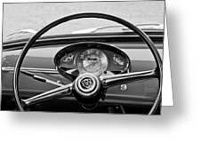Bianchina Steering Wheel Greeting Card