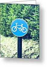 Bicyle Route Greeting Card