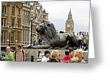 Big Lion Little Ben Greeting Card