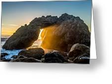 Big Sur Sunbeam Greeting Card