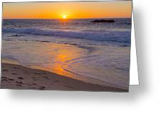 Big Sur Sunset Greeting Card