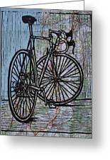 Bike 4 On Map Greeting Card by William Cauthern