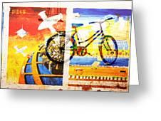Biking In Bejing Greeting Card