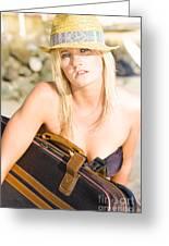 Bikini Wanderer Greeting Card