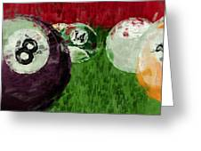 Billiards Abstract Greeting Card