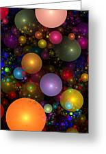 Billions Of Bubbles Greeting Card by Peggi Wolfe