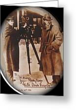Billy Bitzer D.w. Griffith Pathe Camera Way Down East 1920-2013 Greeting Card