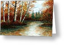 Birch Pond Greeting Card