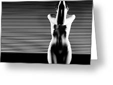 Black And White Artistic Nude Greeting Card