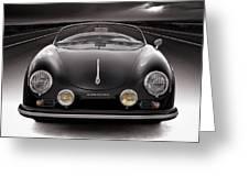 Black Porsche Speedster Greeting Card