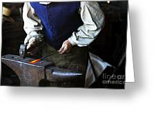 Blacksmith At The Old Fort Greeting Card