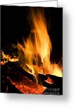 Blazing Campfire Greeting Card