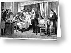 Blood Transfusion, 1874 Greeting Card