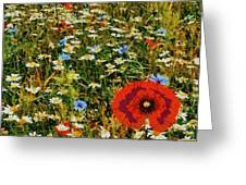 Blossoming Meadow Greeting Card