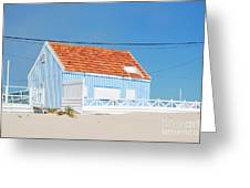 Blue Fisherman House Greeting Card