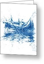 Blue Fresh Water  Greeting Card