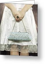 Blue Handbag Greeting Card