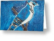Blue Jay Oil Painting Greeting Card by William Sahir House