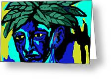 Blue Man Greeting Card by Moshfegh Rakhsha