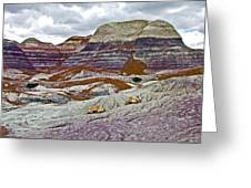 Blue Mesa Trail In Petrified Forest National Park-arizona Greeting Card
