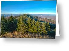 Blue Ridge Mountains North Carolina Greeting Card