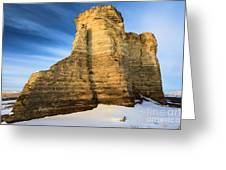 Blue Skies At Monument Rocks Greeting Card