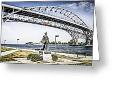 Blue Water Bridge Greeting Card