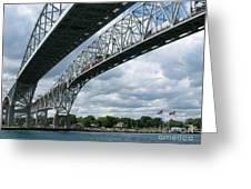 Blue Water Crossing Greeting Card