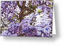 Blue Wisteria Greeting Card