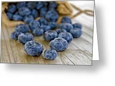 Blueberry Bag Greeting Card