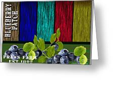 Blueberry Patch Greeting Card