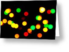 Blurry Colored Lights Greeting Card