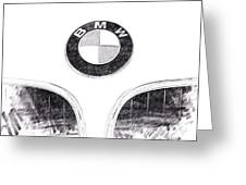Bmw Z3 Emblem In Black Greeting Card